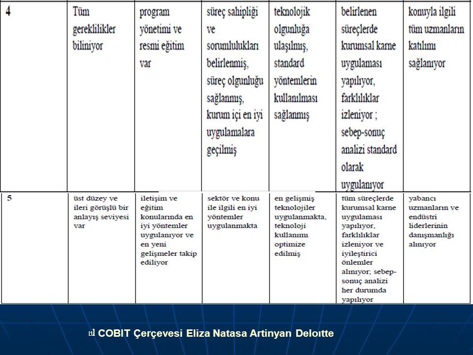 [1] COBIT Çerçevesi Eliza Natasa Artinyan Deloıtte